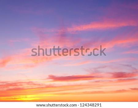 Sunset Paradise Burning Skies #124348291
