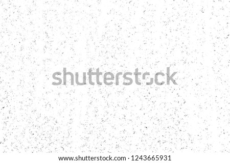Abstract monochrome background. Texture is black and white in grunge style. Pattern of chips, cracks, scuffs, dust, stains. #1243665931