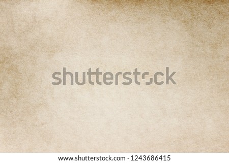 Old Paper texture. vintage paper background or texture; brown paper texture #1243686415