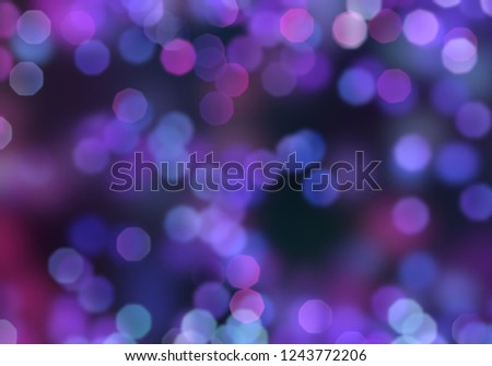 2d illustration. Bokeh abstract texture. Colorful. Defocused background. Blurred abstract bright light. Circular dots. Christmas eve time. Bright lights on dark background. #1243772206