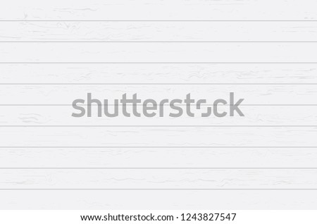 White wood plank texture for background. Vector illustration. #1243827547