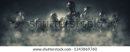 special forces soldier police, swat team member #1243869760