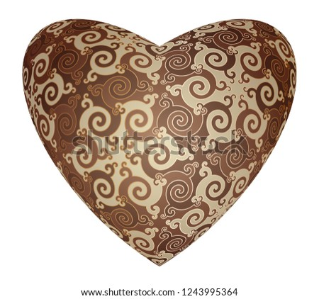 Chocolate candy in the form of heart. #1243995364
