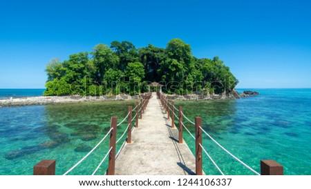 Snake Island of Borneo in Kuala Penyu Malaysia #1244106337