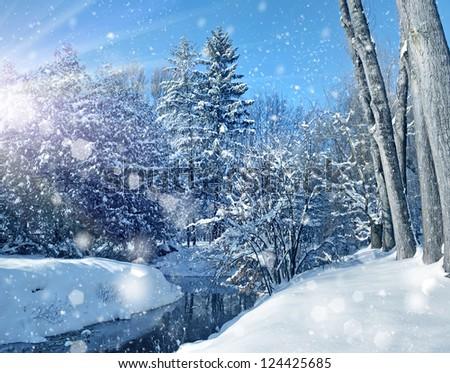 Winter landscape #124425685