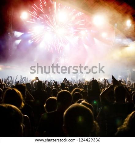 Crowd at concert #124429336