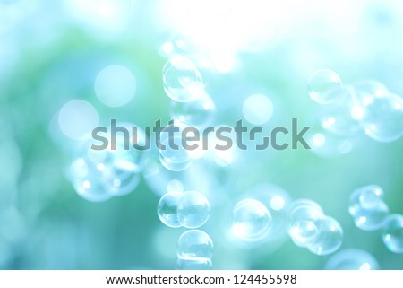 Abstract soap bubble background,element for designers Royalty-Free Stock Photo #124455598