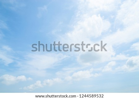 White Clouds in Summer Blue Sky. #1244589532