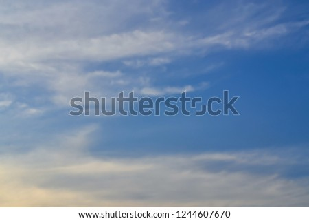 blue sky with clouds background. #1244607670