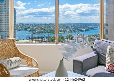 Window view sitting indoor #1244624962