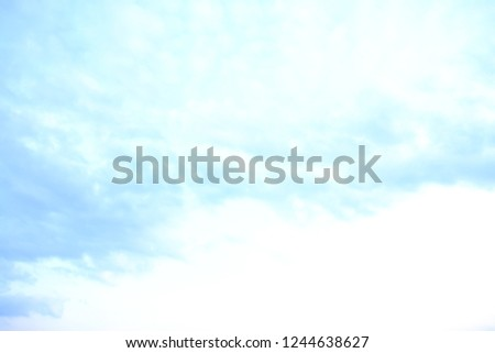 Beautiful blue sky and white clouds like painters paintings. #1244638627