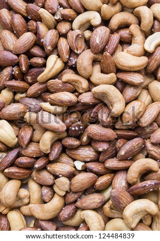 Tasty group of mixed nuts (almonds - cashews) #124484839