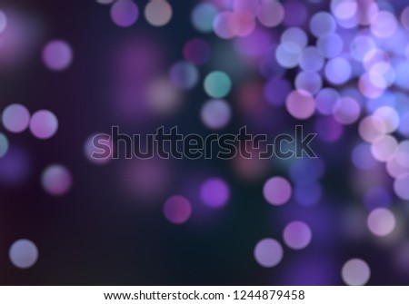2d illustration. Christmas eve time. Abstract texture. Colorful. Defocused abstract dots background. Blurred bright light. Circular bokeh points. Lights in the dark. #1244879458