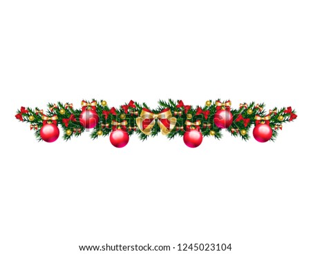 Christmas tree branch with toys #1245023104