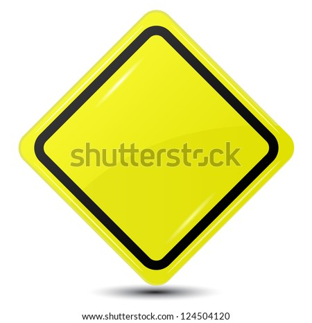 Blank Yellow Sign isolated on white background #124504120