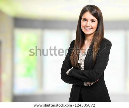 Beautiful businesswoman portrait #124505092