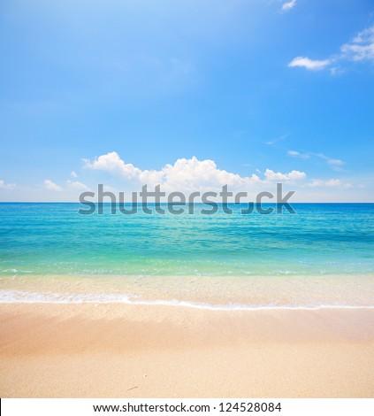 beach and tropical sea #124528084