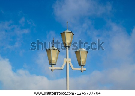 lantern street lighting system of the city                                #1245797704