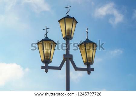 lantern street lighting system of the city                                #1245797728