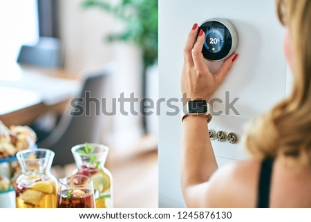 Home Energy Saving, temperature control/ Thermostat #1245876130