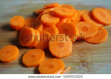 Carrots cut into slices #1245913321