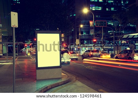 Modern city advertising light boxes