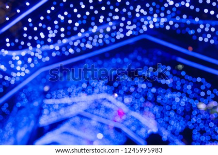 BLUE abstract bokeh background with glitter lights for Christmas and New year #1245995983