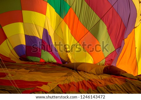 background with colored material of the balloon in Cappadocia #1246143472