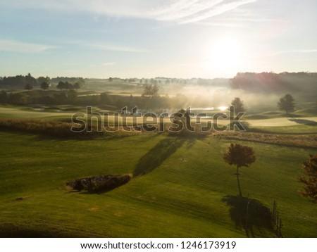 Golf Course Fog #1246173919