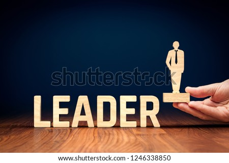 Successful team leader (manager, CEO, market leader) and another business leadership concepts. #1246338850