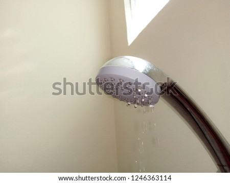 Shower with leaking water. #1246363114