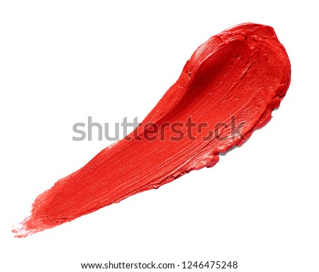 close up of  lipstick or nail polish strokes on white background #1246475248