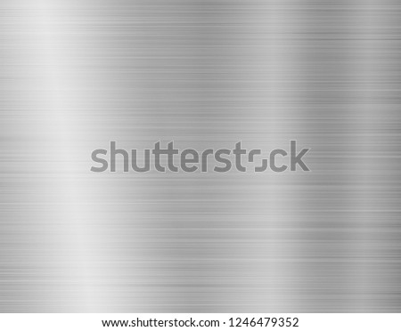 texture metal background of brushed steel plate #1246479352