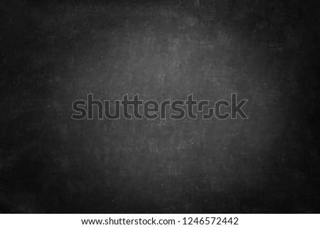 blackboard texture and black background, dark copy space horizontal chalkboard wall
