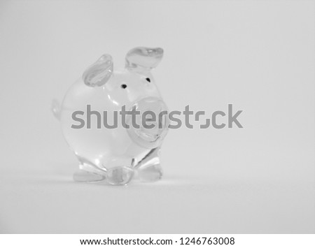 the pig is made of glass #1246763008