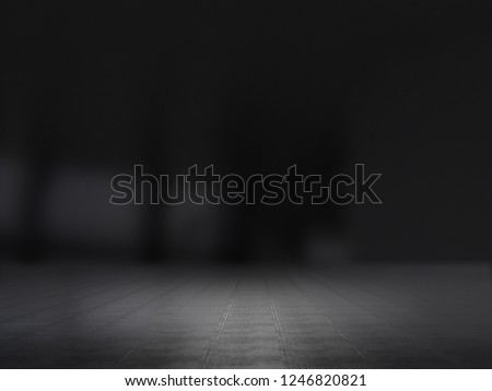 Product showcase background blurred .3D rendering