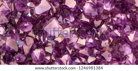 Background with amethyst crystals