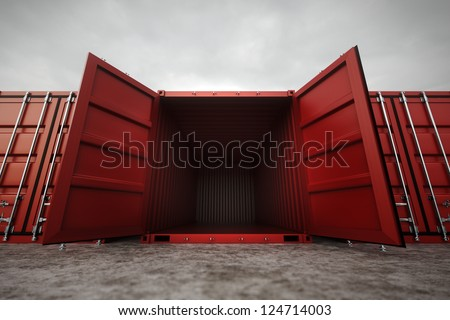 Picture of red open containers in the row.
