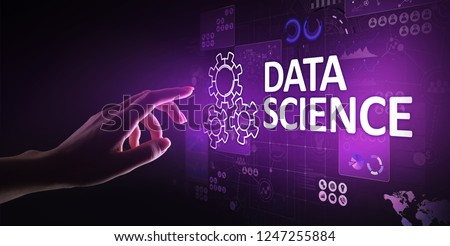 Data science and deep learning. Artificial intelligence, Analysis. Internet and modern technology concept. #1247255884