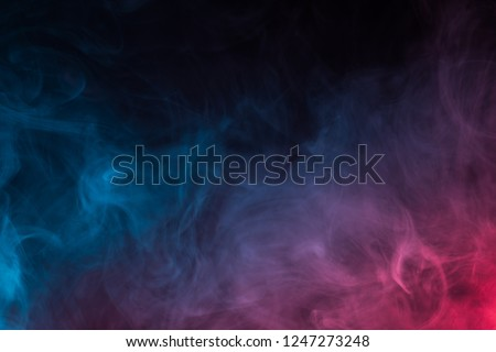 Colorful smoke close-up on a black background #1247273248