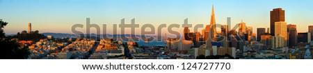 San Francisco. Image of San Francisco skyline with Bay Bridge
