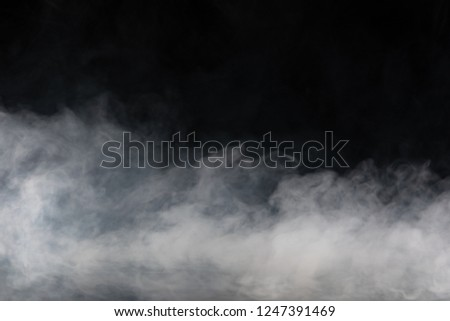 Abstract Smoke on black Background #1247391469