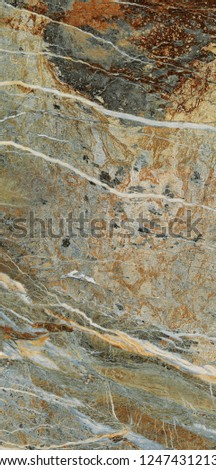 Real natural marble stone texture and surface background. #1247431213