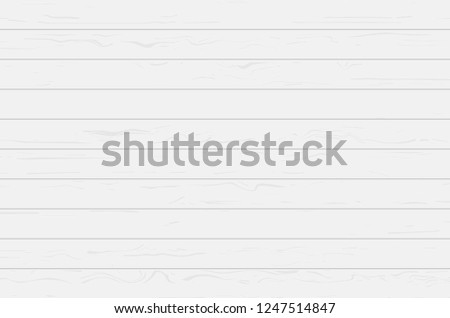 White wood plank texture for background. Vector illustration. #1247514847