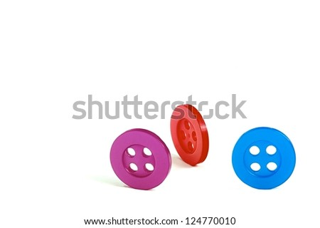 Colored buttons  on a white background #124770010