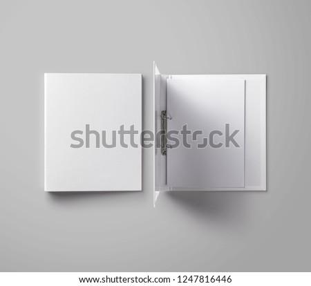 White Ring Binder Folder Royalty-Free Stock Photo #1247816446