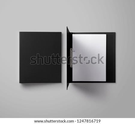 Black Ring Binder Folder Royalty-Free Stock Photo #1247816719