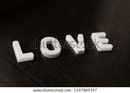 Word Love from letters #1247889397