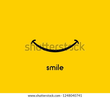 Smile icon vector graphic design symbol or logo. Royalty-Free Stock Photo #1248040741