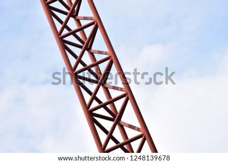 Red iron pillar. #1248139678